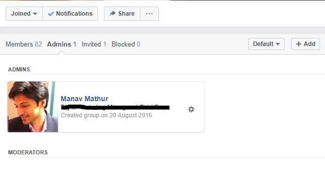facebook group admin