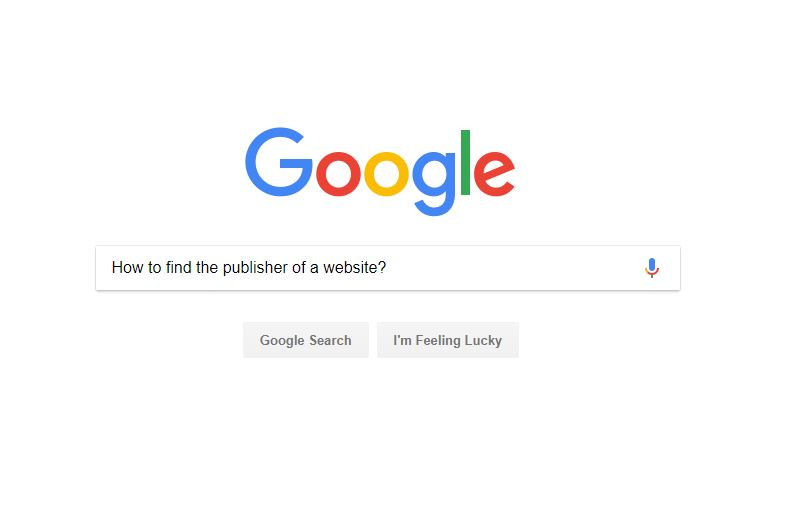 how to find the publisher of a website